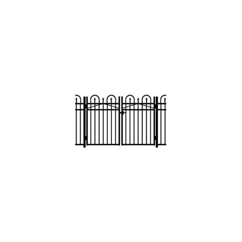 Jerith Concord #111 Modified Aluminum Double Swing Gate w/Finials