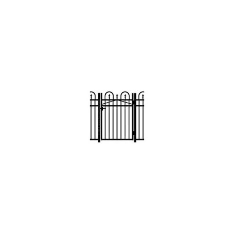 Jerith Concord #111 Modified Aluminum Single Swing Gate w/Finials