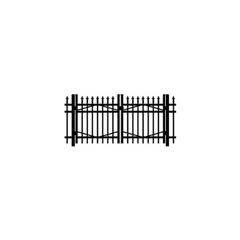 Jerith #I111 Aluminum Double Swing Gate w/Finials