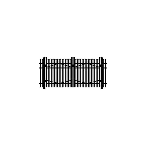 Jerith #I401 Aluminum Double Swing Gate