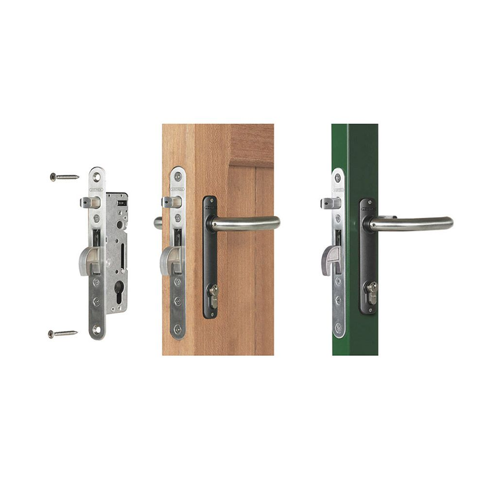 Swinging gate latches