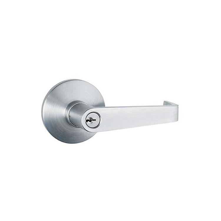 Lockey USA Lever Handle Panic Trim, Keyed Storeroom, For Lockey PB1100 Panic Bar, Satin Chrome