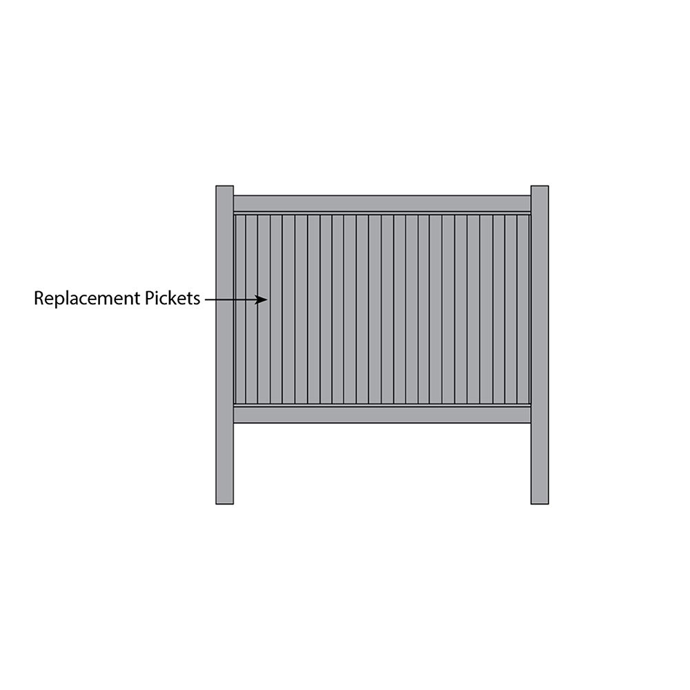 Bufftech New Lexington Fence - Replacement Pickets