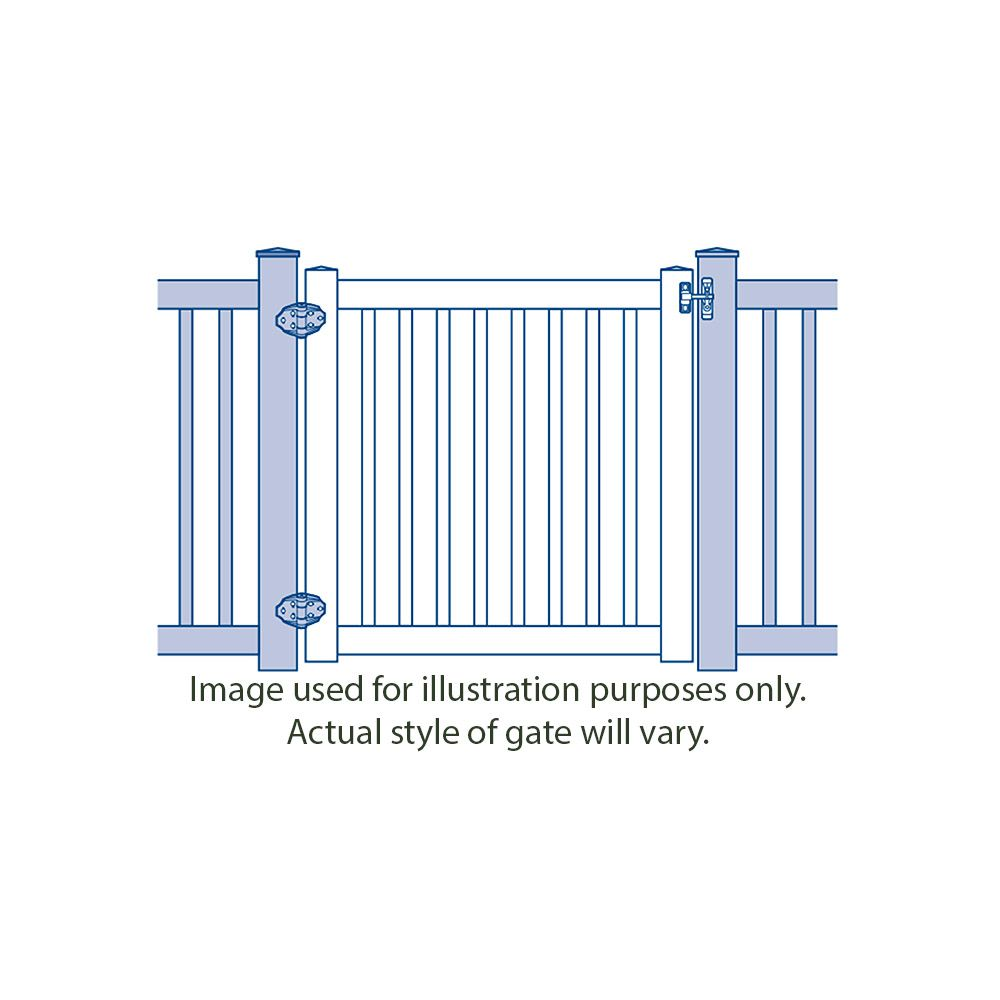 Bufftech New Lexington with Lattice Accent Gates
