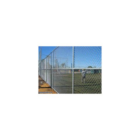 Hoover Fence Horizontal Rail Kit for Single Tennis Court Fence Kits - Galvanized
