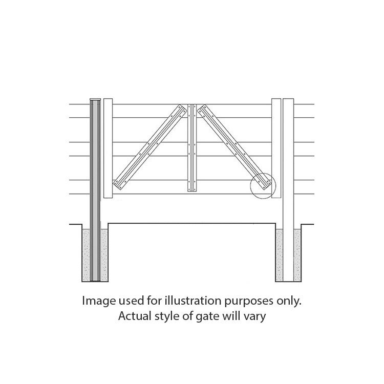 Superior 3-Rail Black Post And Rail Vinyl Gate Kits