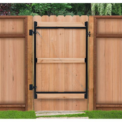 "Jewett-Cameron 3-Rail Single Adjust-A-Gate, 60""H x 60-96"" Widths"