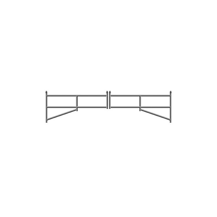 Hoover Fence H-Series Tubular Barrier Double Gate Kits - Galvanized Steel