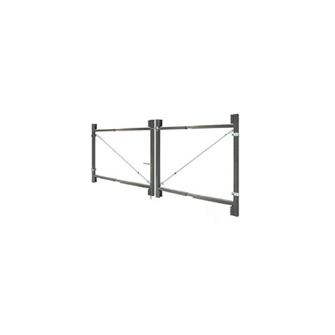"Jewett-Cameron 2-Rail Double Adjust-A-Gate Kit w/ Drop Rod, 45""H x 36-72"" Each"