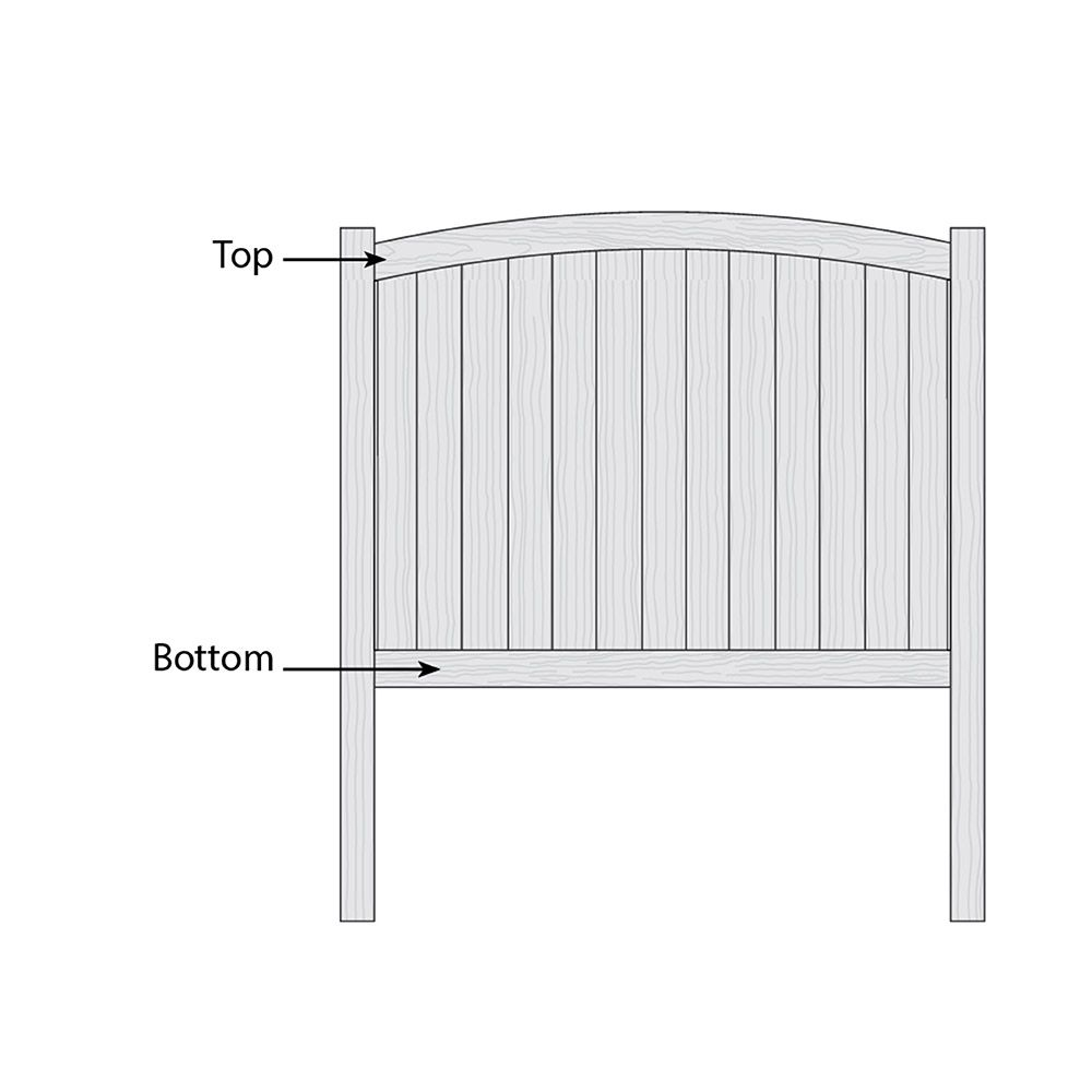 Bufftech Chesterfield CertaGrain Convex Fence - Replacement Rails