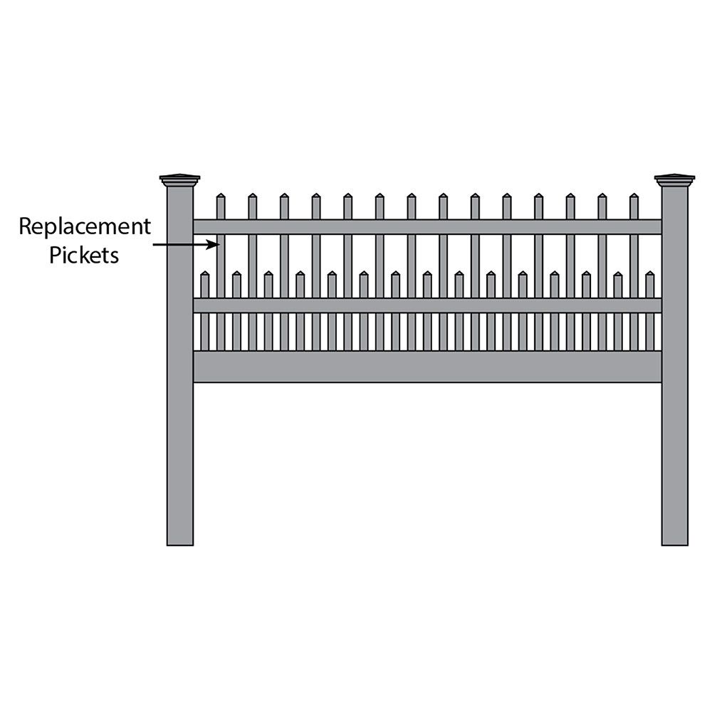 Bufftech Canterbury Fence - Replacement Pickets