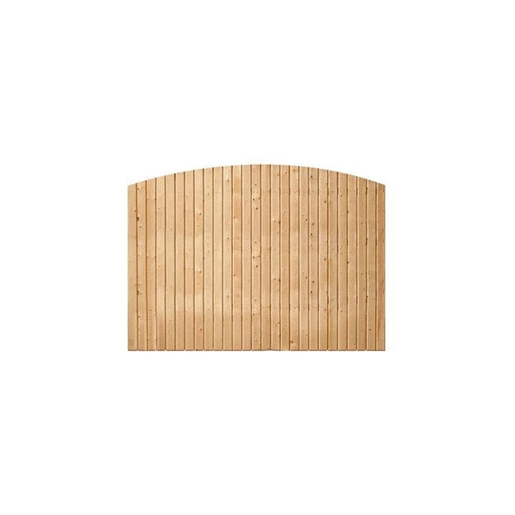 Solid Wood Fence Panels, Convex Top - Cedar