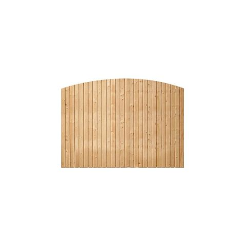 Solid Wood Fence Panels, Convex Top - Treated