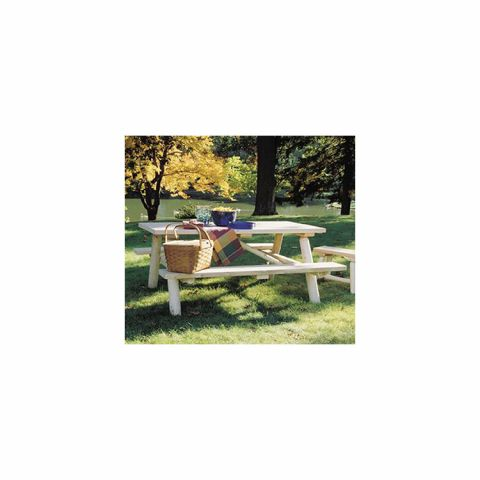 Rustic Cedar Furniture Log Picnic Table