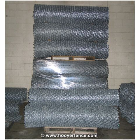"6 Gauge x 2"" Chain Link Fence Fabric, Aluminized"