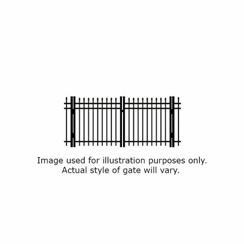 Ultra UAS-350 Aluminum Double Swing Gate