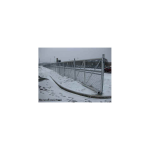 Hoover Fence Chain Link Single Track Aluminum Slide Gate Kit Installation - In Snow