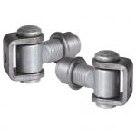 Locinox Heavy Duty 90 Degree Hinge, 20mm Eye Bolt, Adjusts 1