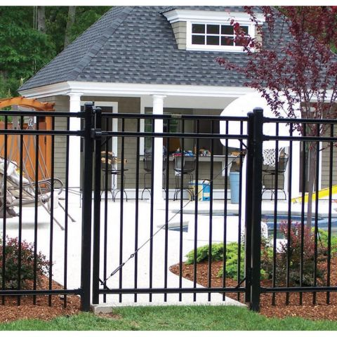 Ameristar Montage Majestic Steel Single Gate, 3-Rail