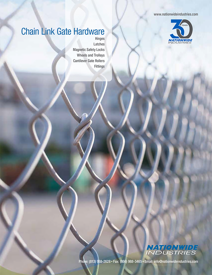 Nationwide Industries Chain Link Fence Gate Hardware Catalog