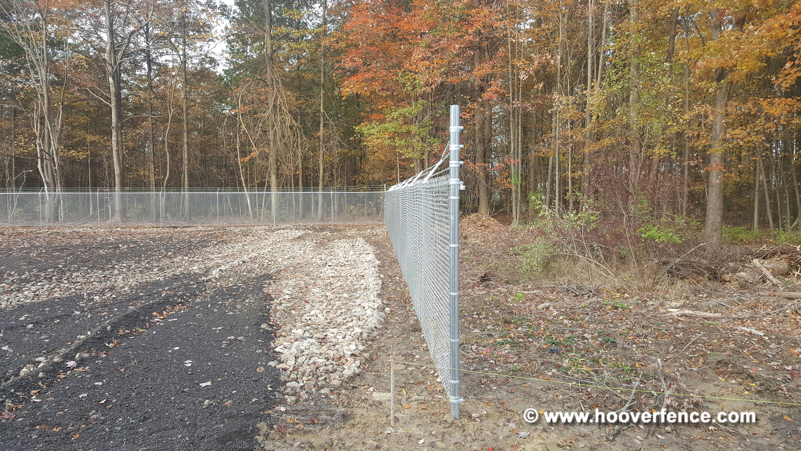6' High Chain Link Fence with Barbed Wire Installation - Atwater, Ohio
