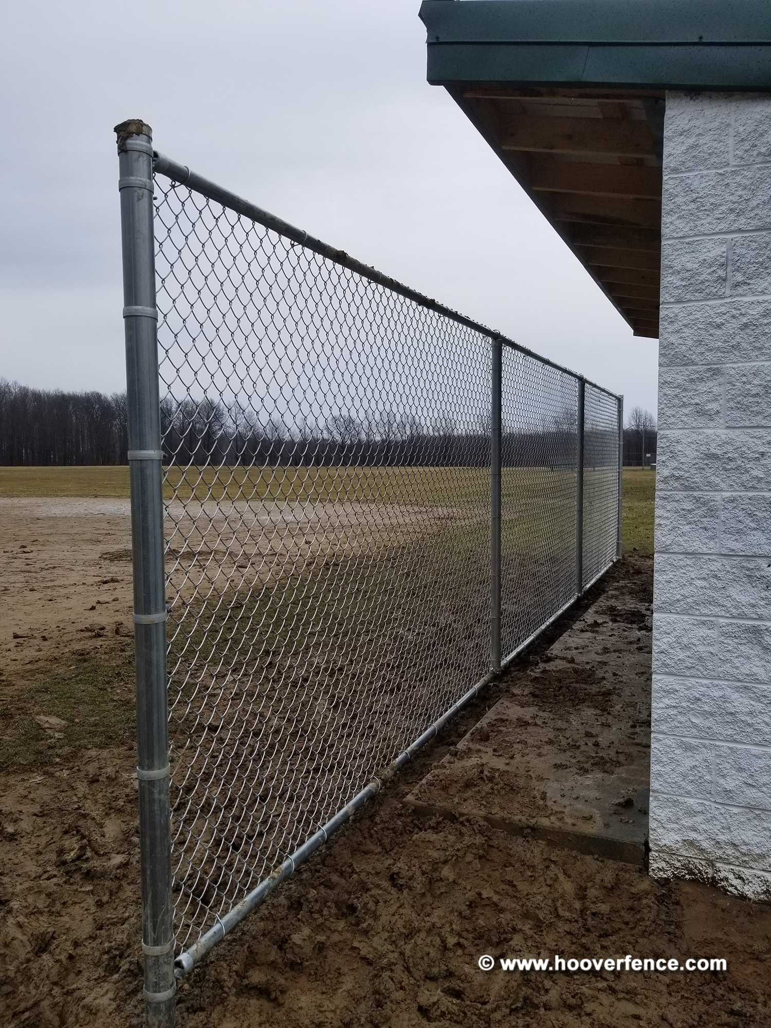7' High Chain Link Sideline Fence Installation - Edinburg, Ohio
