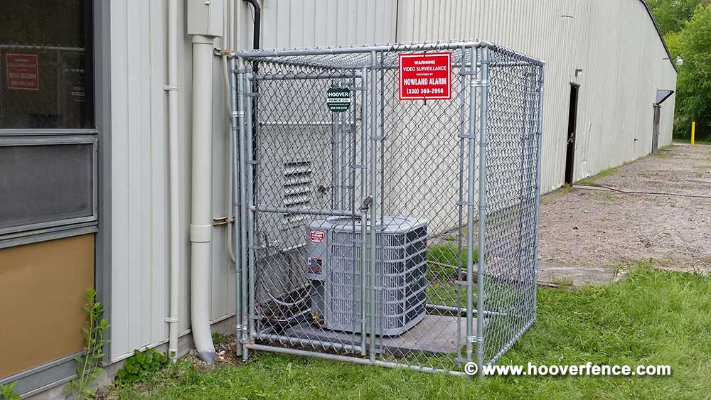 Hoover Fence Co Install - Chain Link Partition Panels - AC Cages - HFC Warehouse - Newton Falls, OH