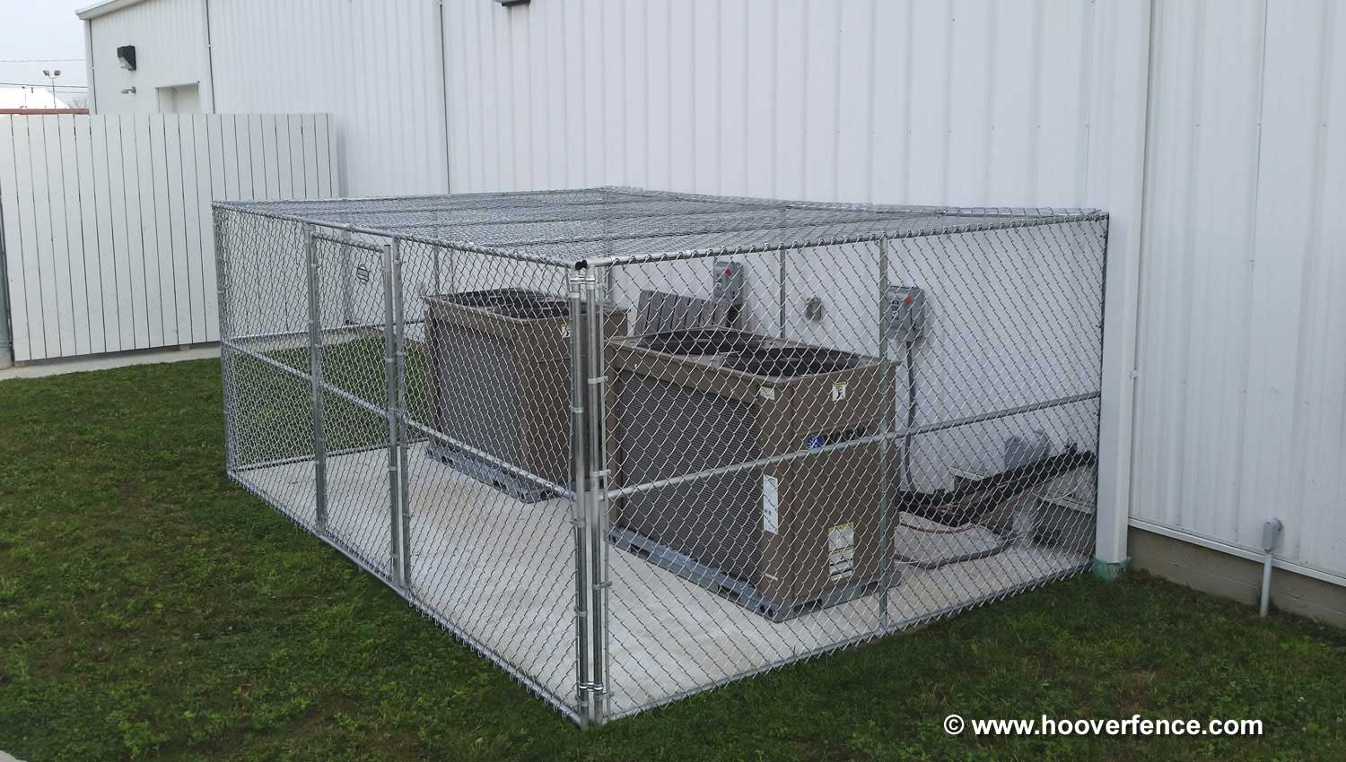 Hoover Fence Co Install - Chain Link Partition Panels - AC Cages - Ohio