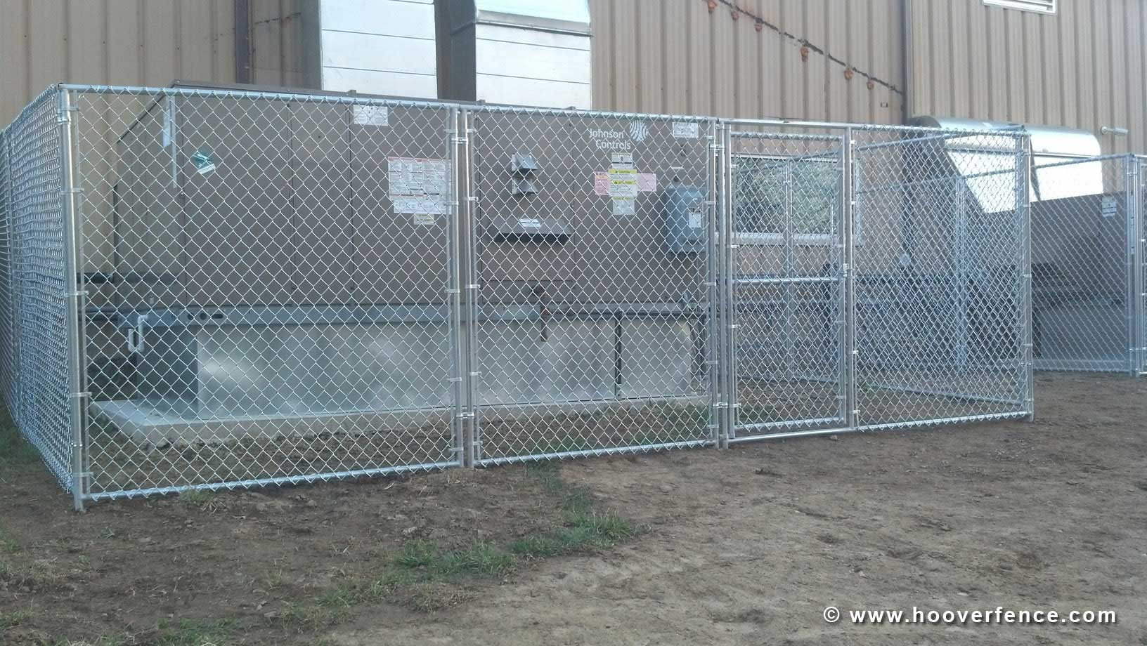 Hoover Fence Co Install - Chain Link Partition Panels - AC Cages - Trumbull County Animal Welfare League