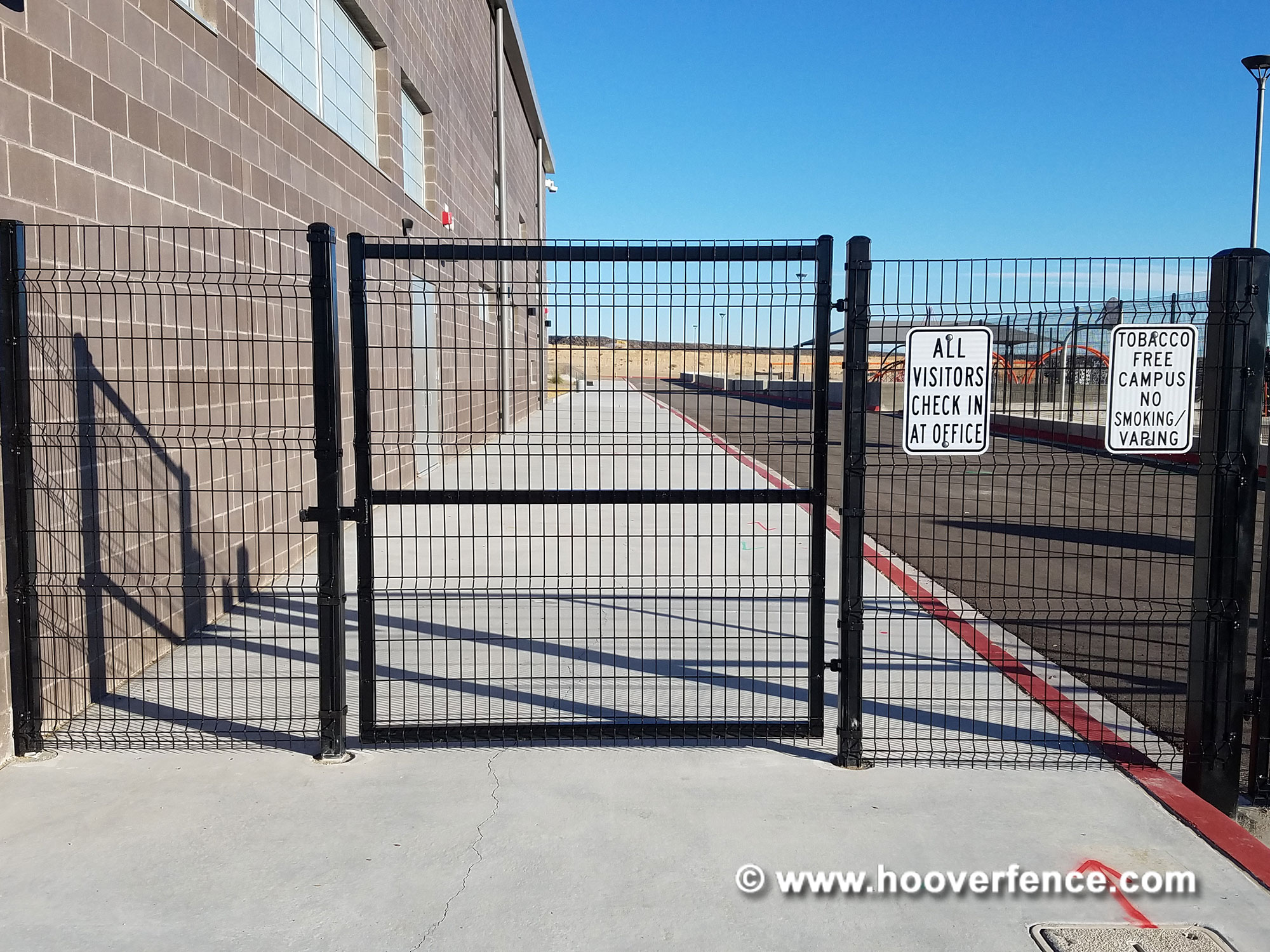 Customer Install - DAC-4090-B Latches Installed on Black Welded Wire Gates