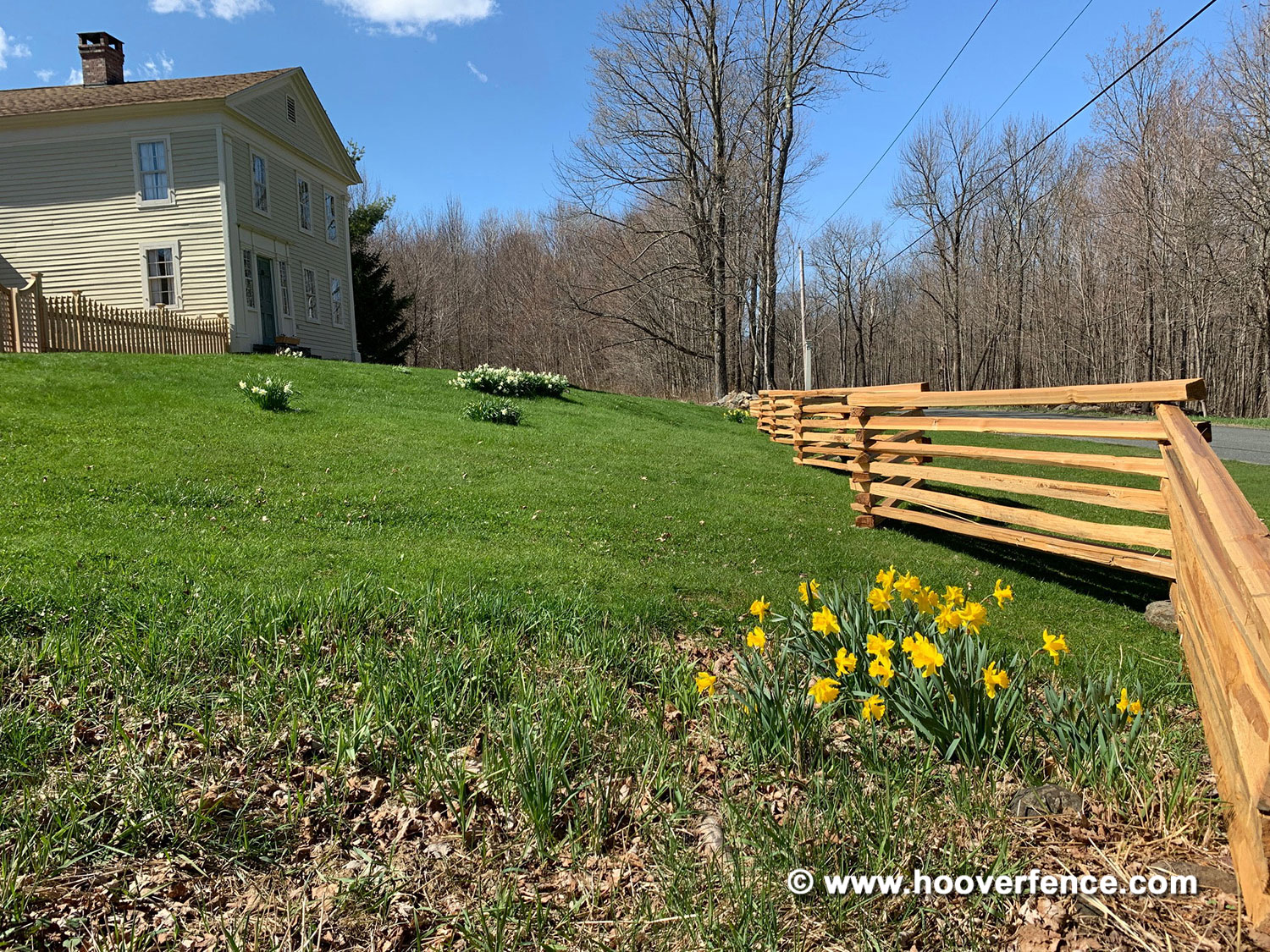 Customer Install - Western Red Cedar Stack Rail and Concave French Gothic Garden Fence - Sandisfield MA