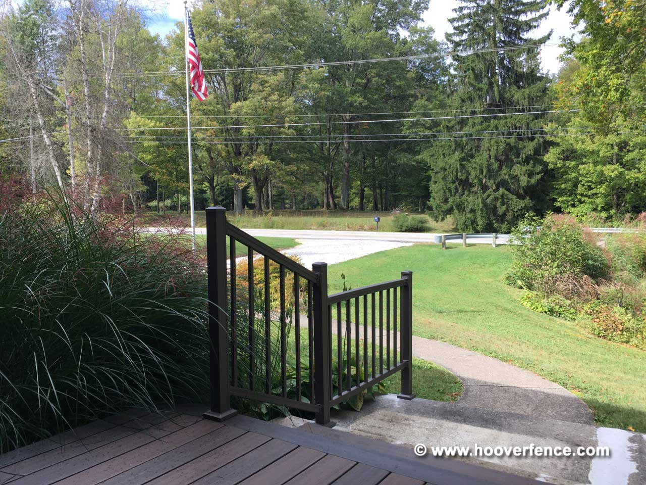 Customer Install - 3'H American Series Aluminum Railing, Stair and Flat Sections, Ravenna, OH