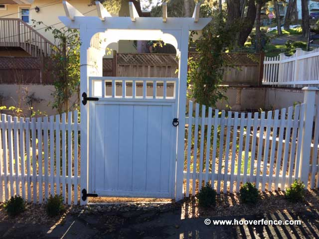 Customer Install - Wood Arbor, Gate, Fence, And Garden Installed with 8292-07SP and 4149-LDSP - Monterey, CA