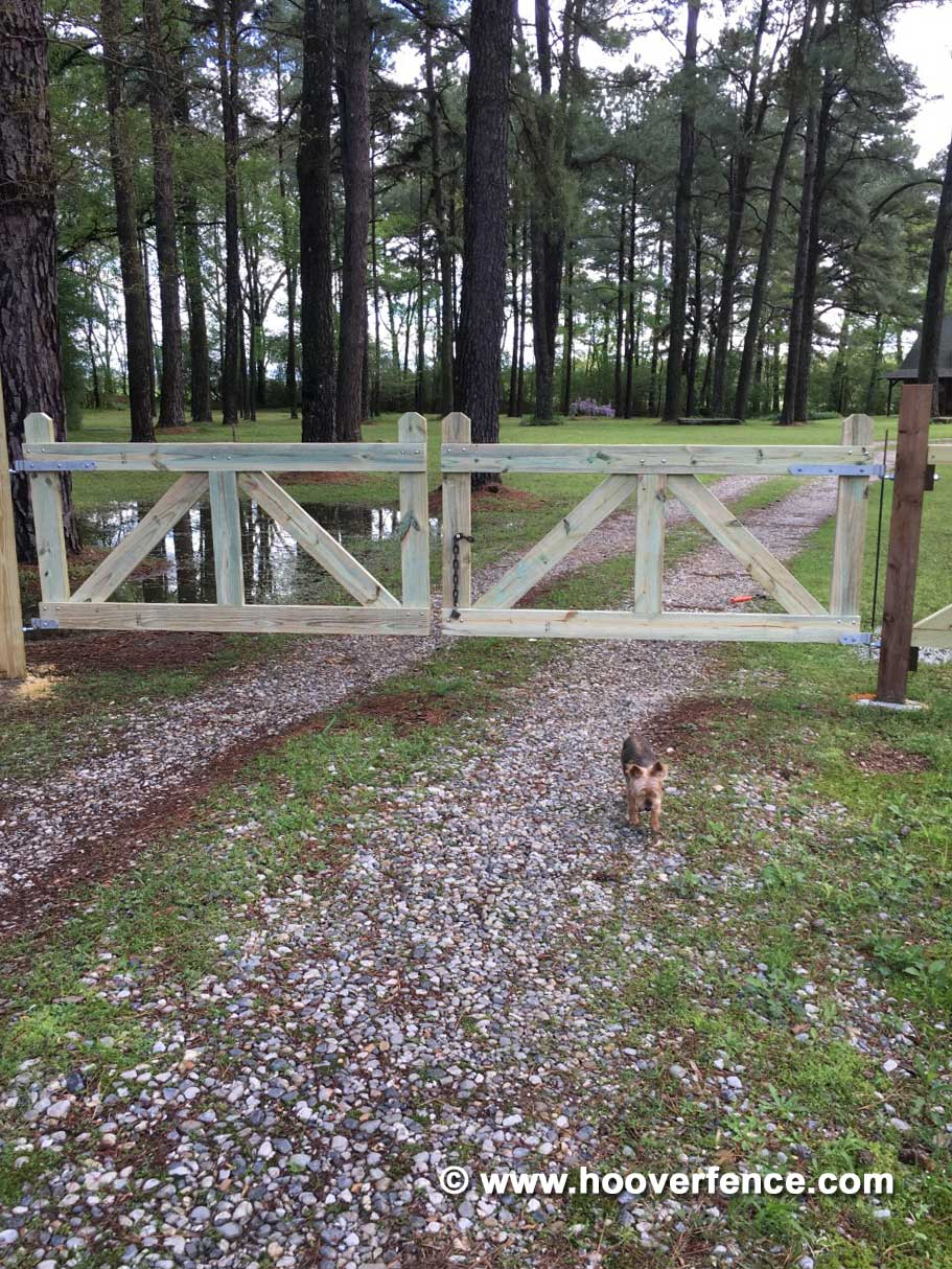 Customer Install - Wood Board Gates Installed Using Snug Cottage Hardware Central Eye Double Strap Hinges - Prescott, AR