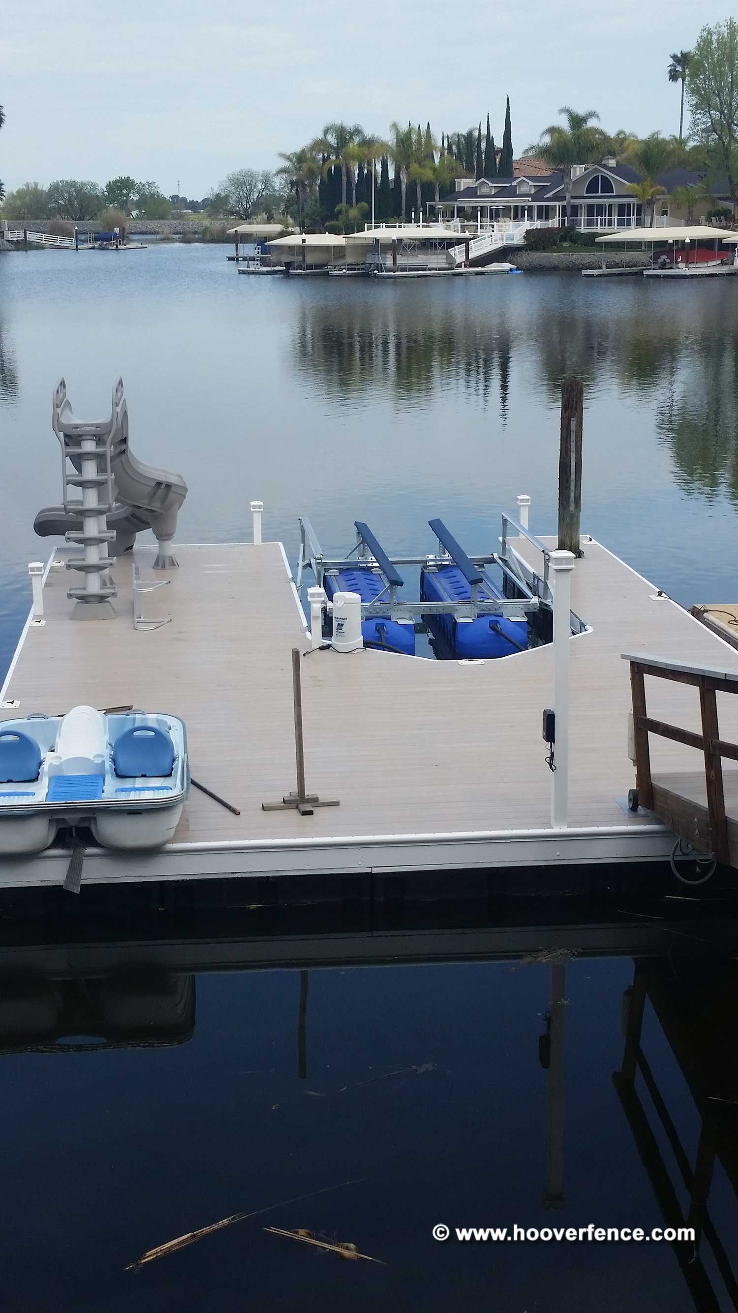 Customer Install - Aurora Deck Lighting 4x4 Titan Low Voltage LED Lighting Post Cap Installed on Dock