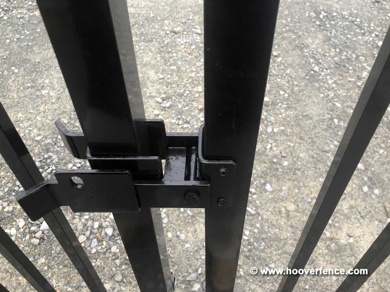 Customer Install - DAC-4090-B Installed on Black Metal Gate - Wilmington, NC