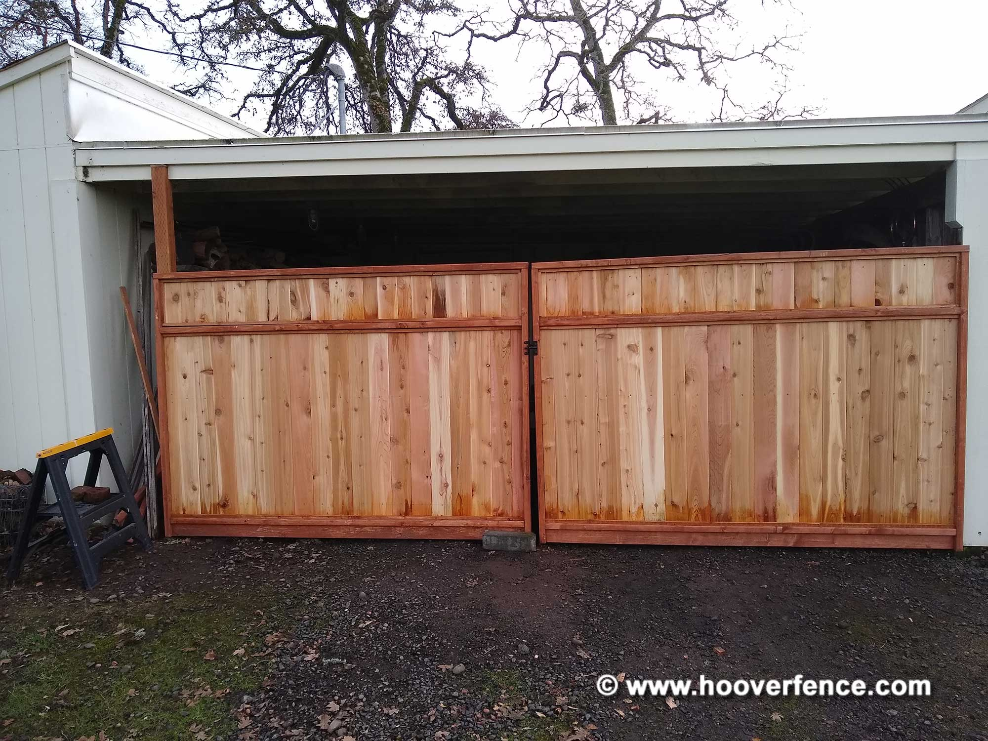 Customer Install - Custom Wood Gate Built Using DAG-60-3 Kit and Pre-Assembled Wood Panels