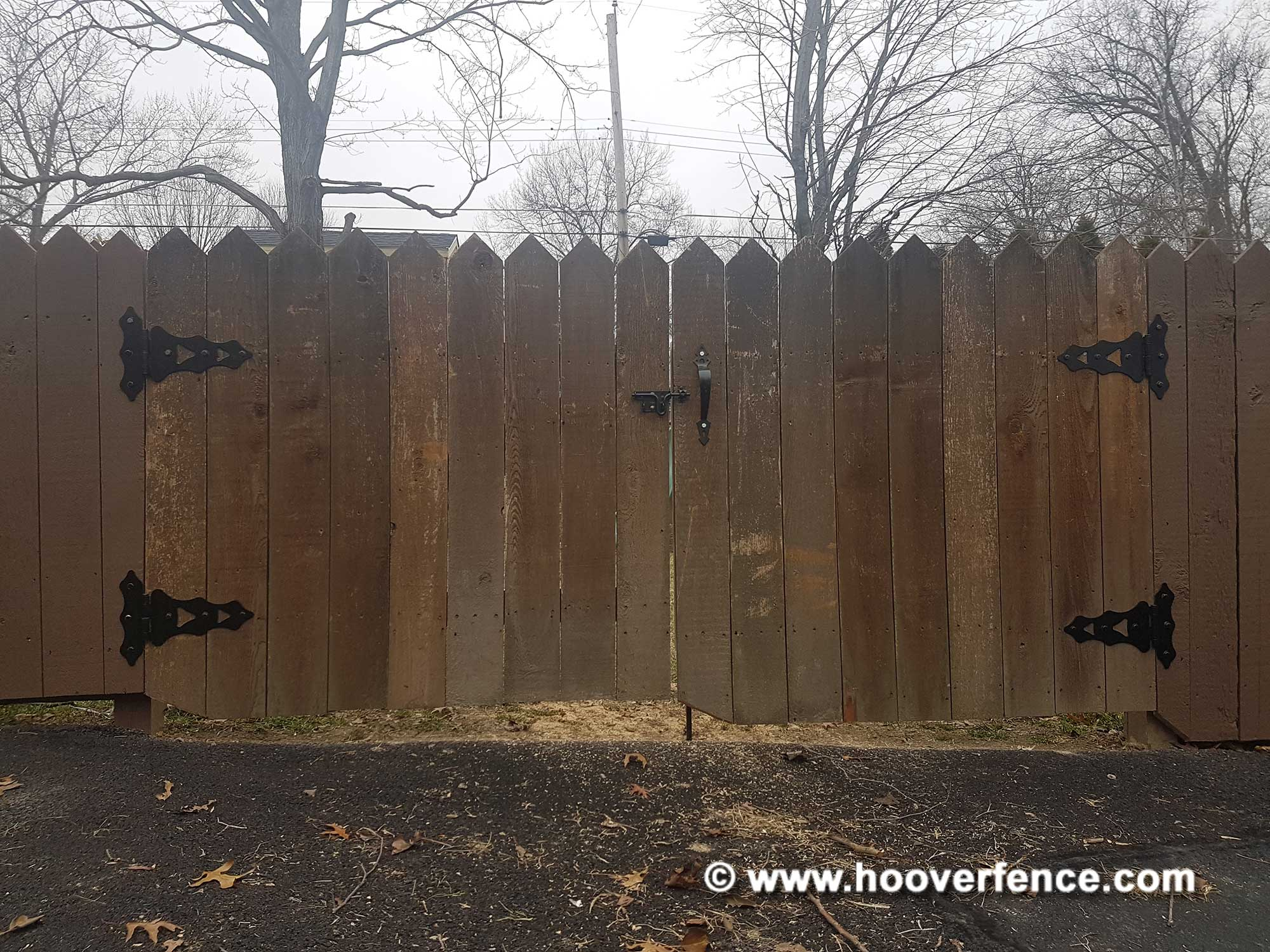 Customer Photo - Wood Gates Hung Using D&D Technologies Wood Gate Hardware - Sharon, PA