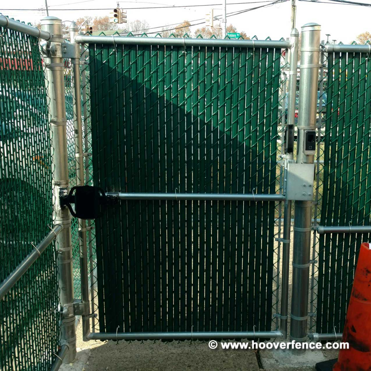 Customer Install - KantSlam Gate Closers on Chain Link Access Control Gates - Staten Island, NY