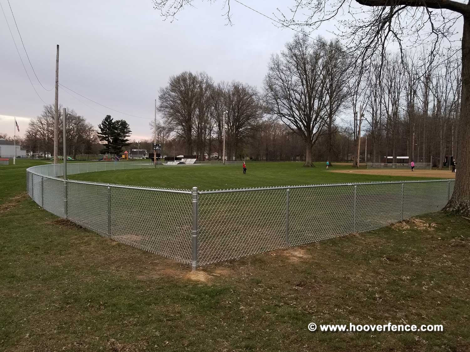 Hoover Fence Co Installation Baseball Sideline Fence - Field 3 - Newton Falls, OH