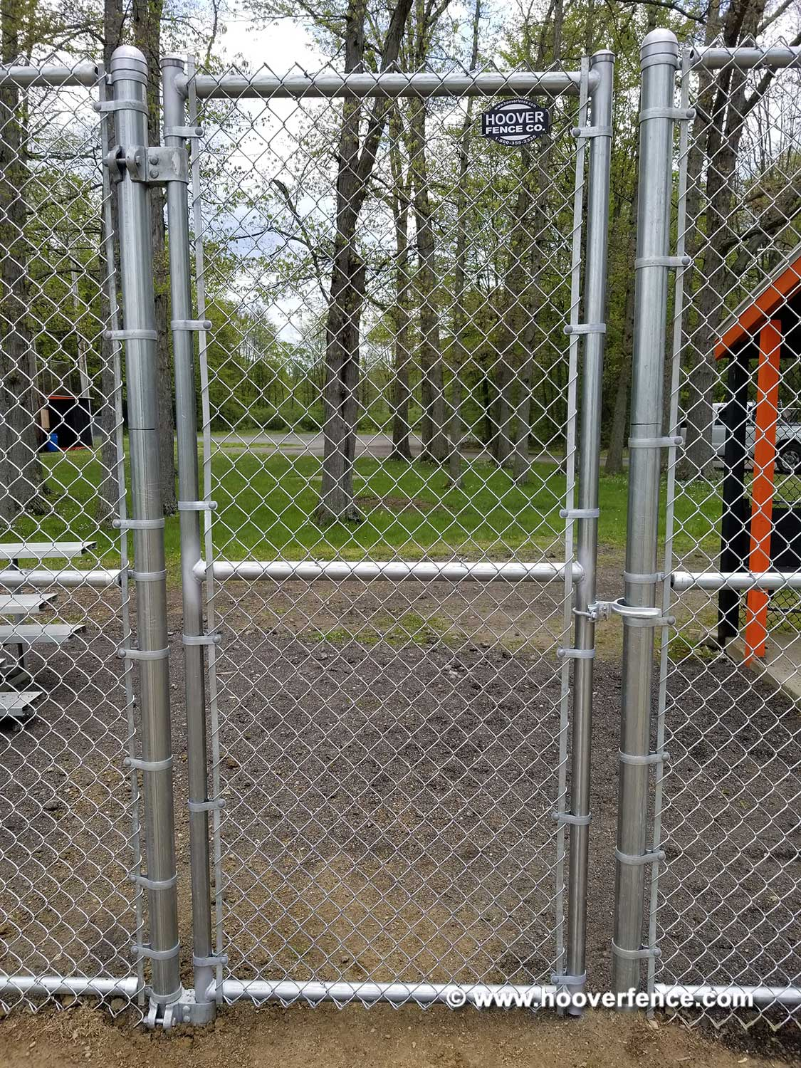 Hoover Fence Co Installation BS-F37 Baseball Sideline Fence - Field 3 - Newton Falls, OH