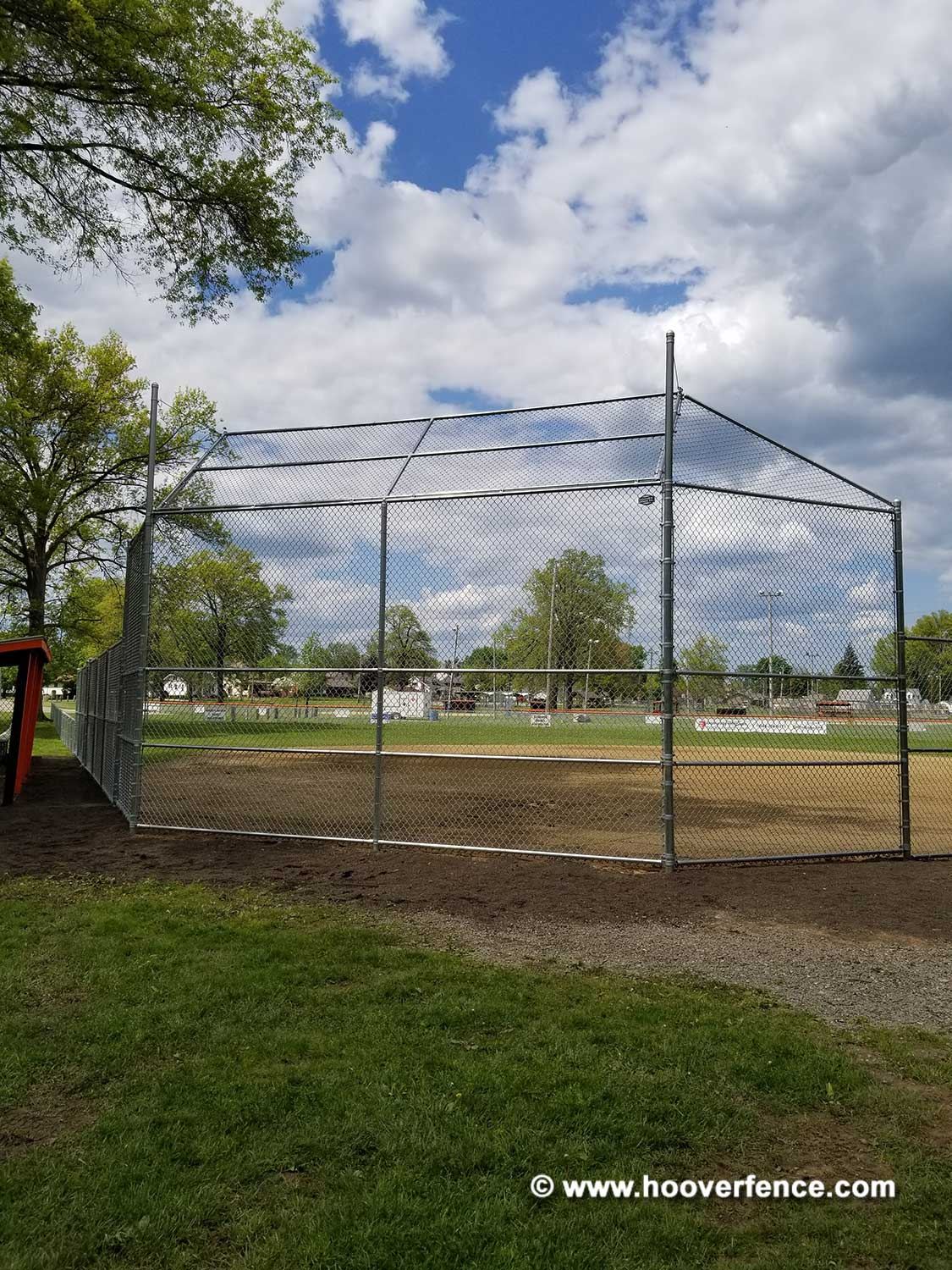 Hoover Fence Co Installation BS-F37 Backstop - Finished - Newton Falls, OH