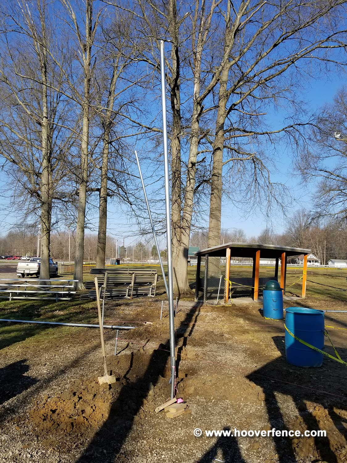 Hoover Fence Co Installation BS-F37 Backstop - Newton Falls, OH