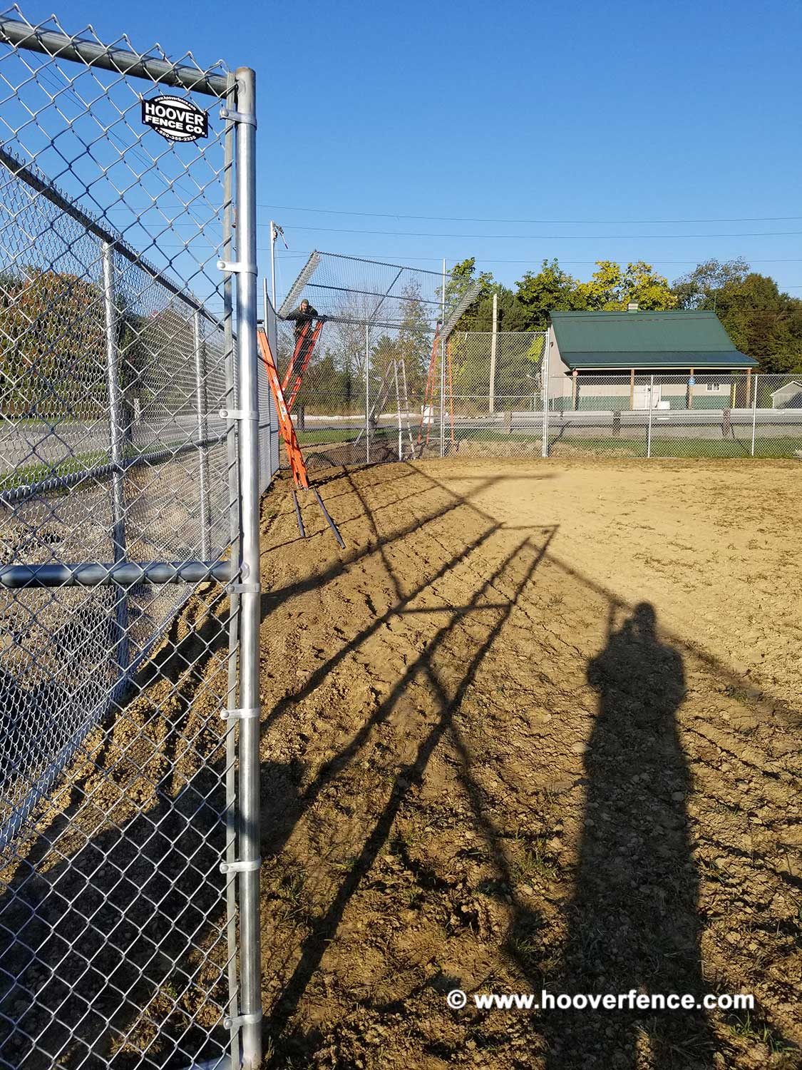 Hoover Fence Co Installation Baseball Sideline Fence - Field 4 - Newton Falls, OH