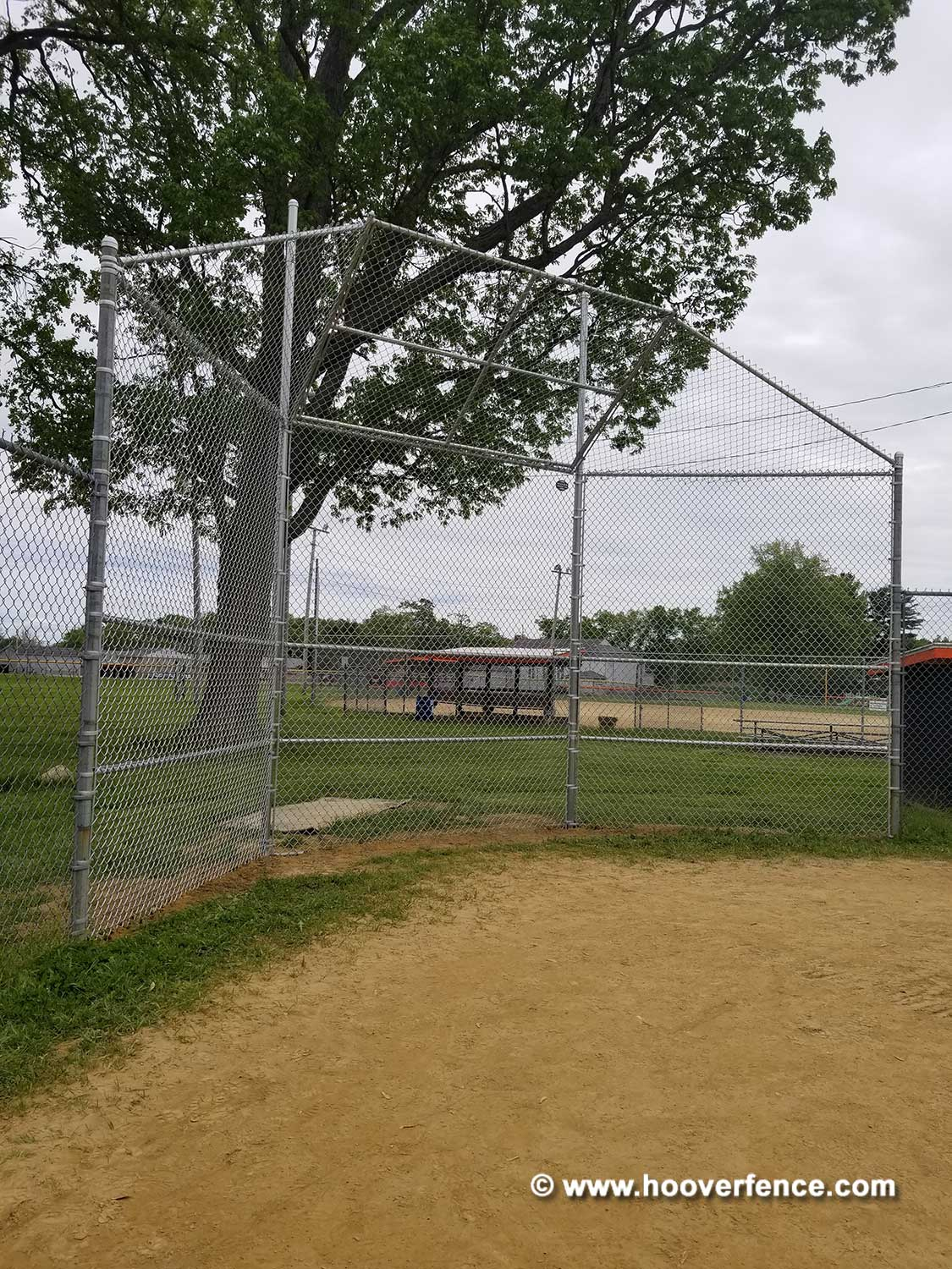 Hoover Fence Co Installation BS-F37 Baseball Backstop - Newton Falls, OH