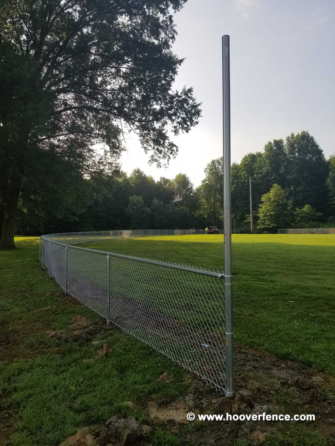 Hoover Fence Co Installation Baseball Sideline Fence - Field 6 - Newton Falls, OH