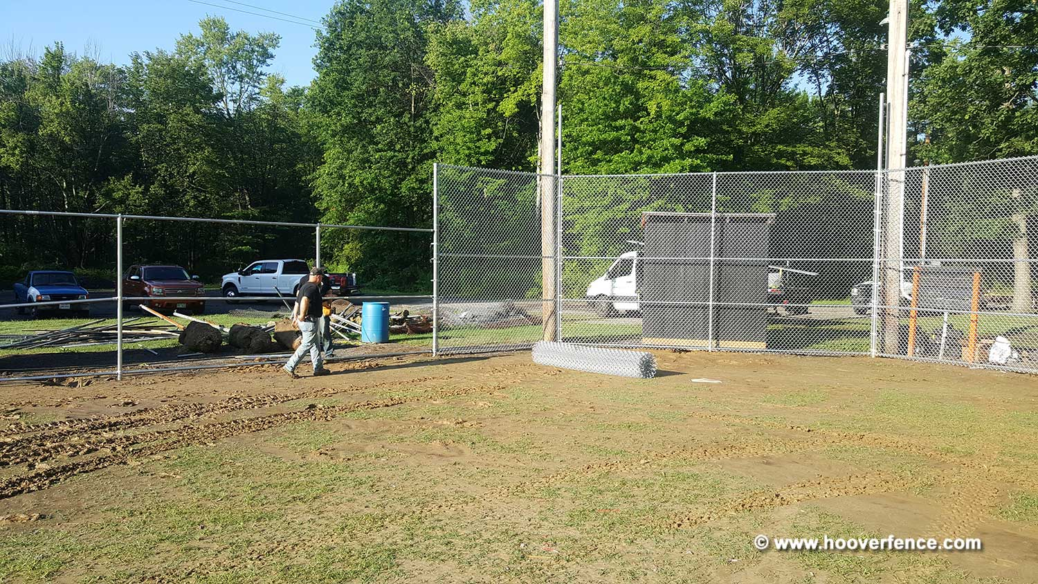 Hoover Fence Co Installation BS-F37 Baseball Sideline Fence - Field 6 - Newton Falls, OH