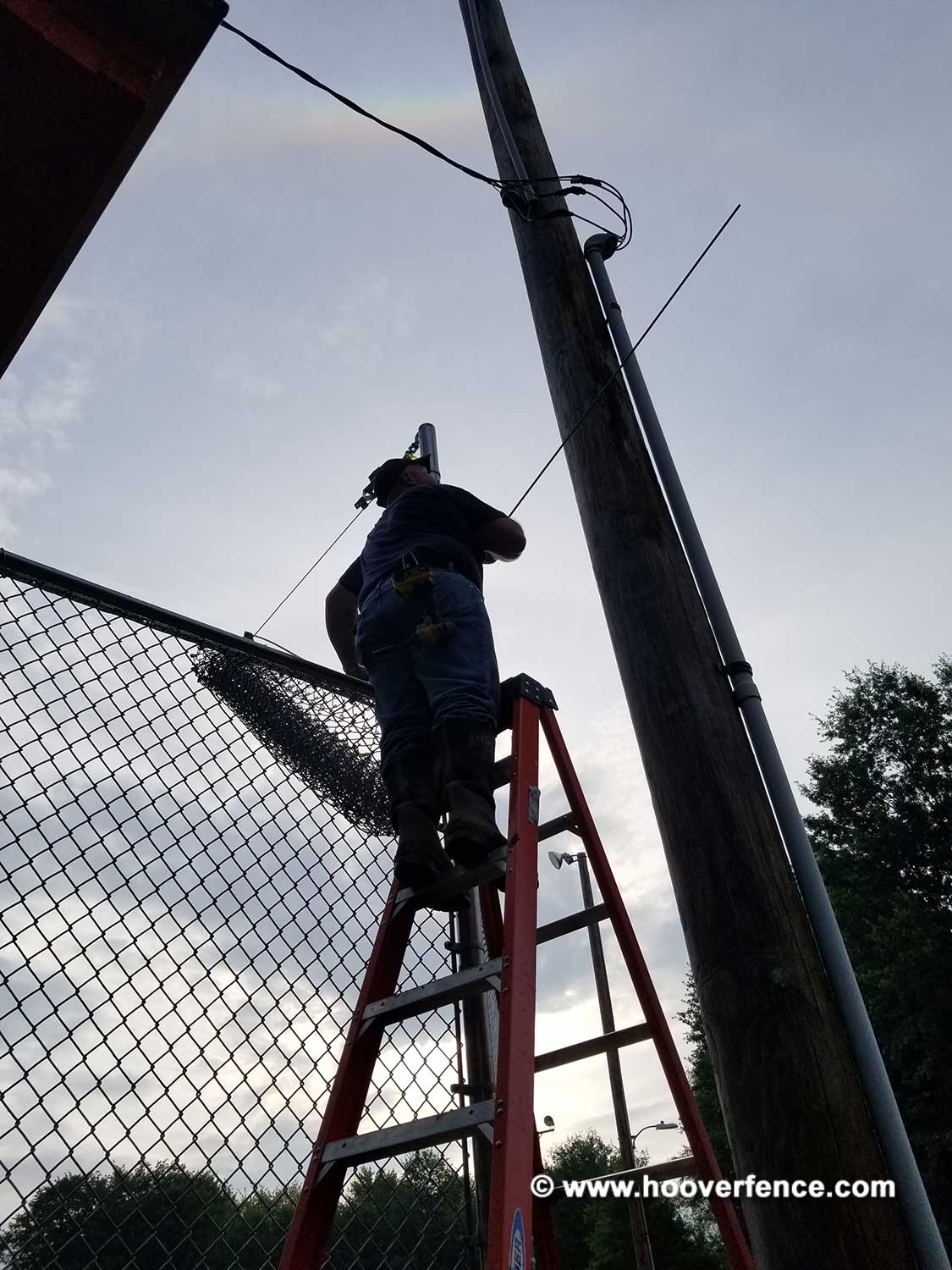 Hoover Fence Co Installation BS-F37 Baseball Backstop Framing and Stretching - Newton Falls, OH