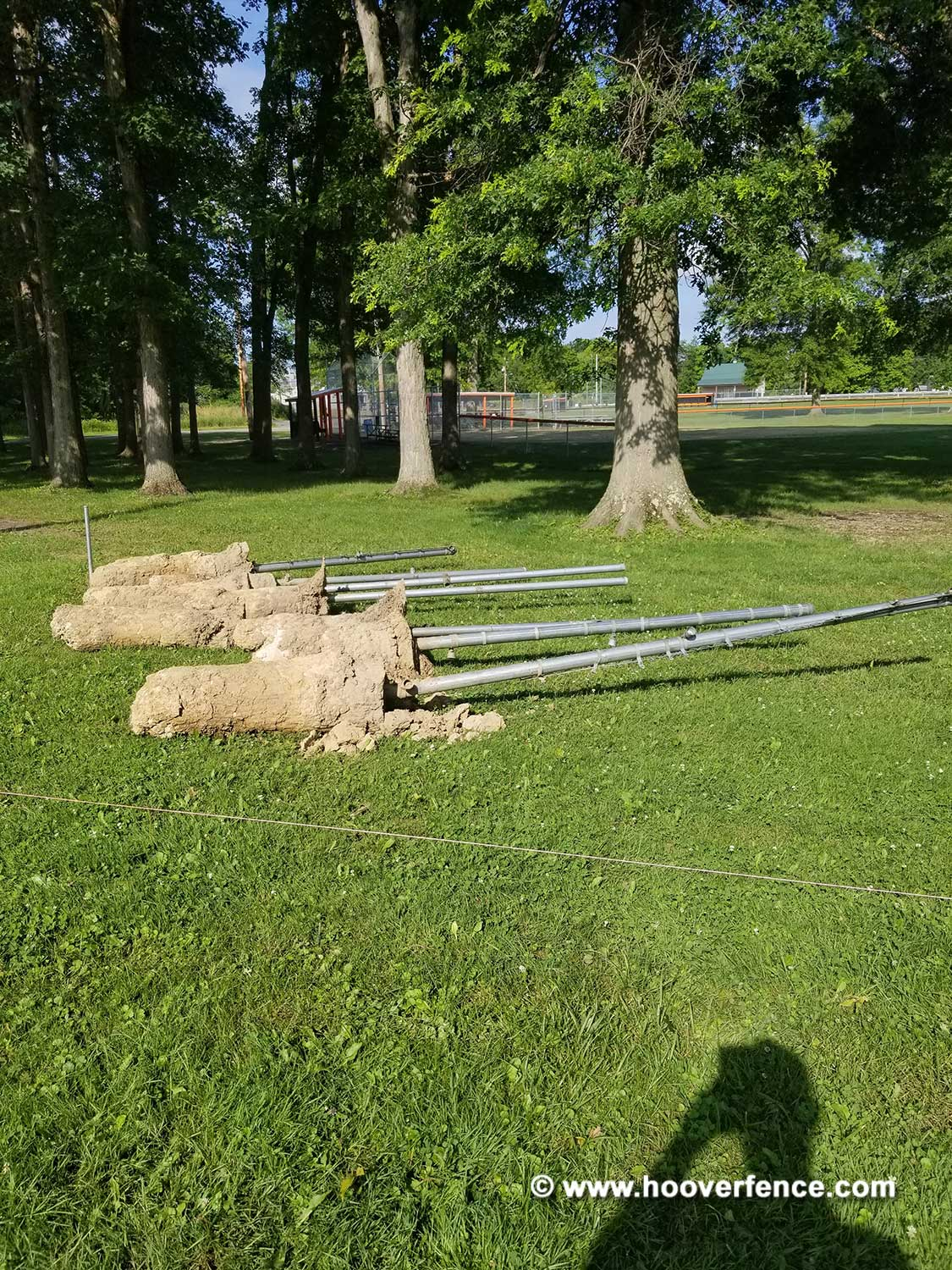 Hoover Fence Co Installation BS-F37 Baseball Backstop Demolition - Newton Falls, OH