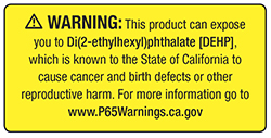 Proposition 65 DEHP Warning